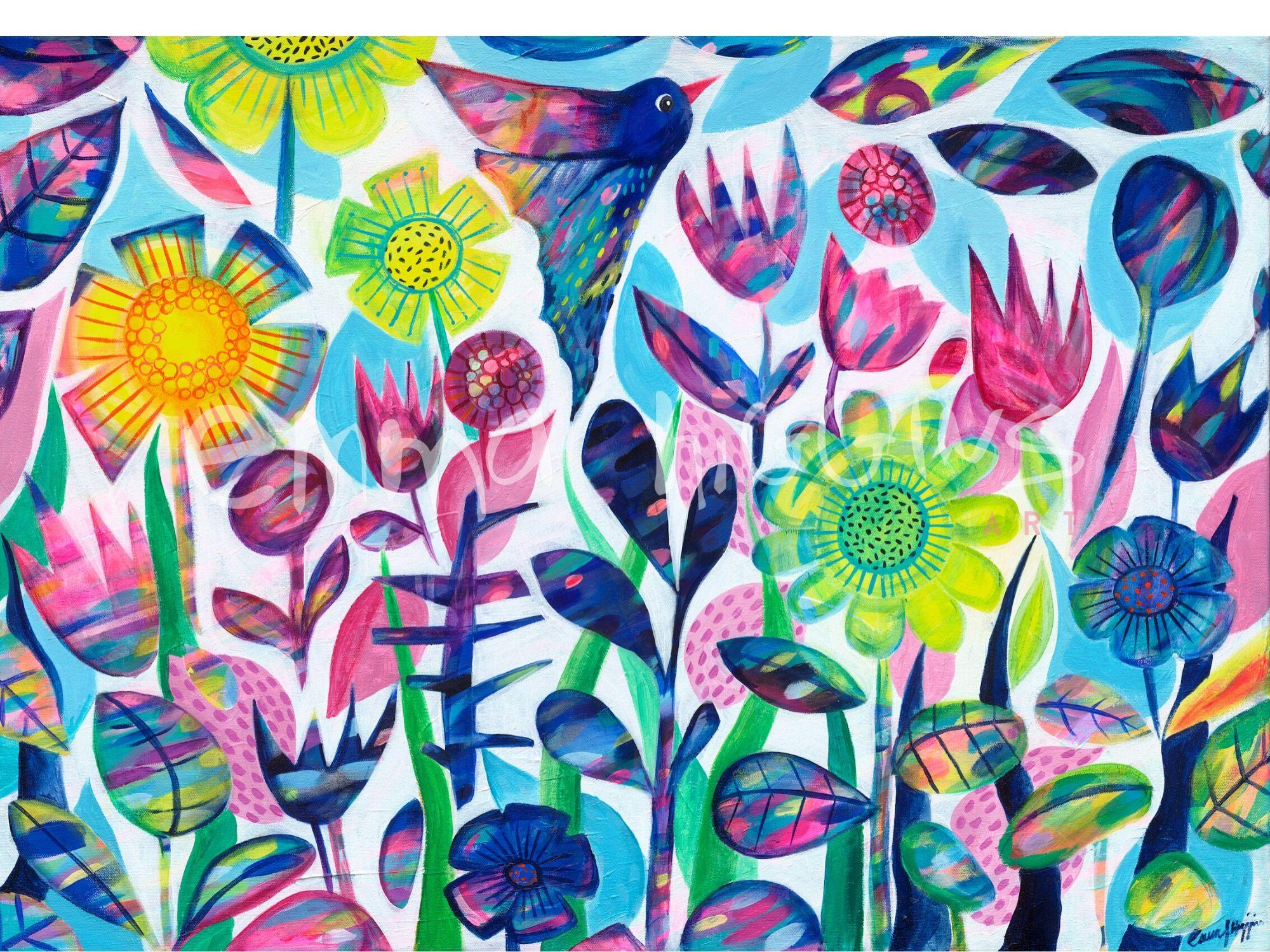 'The Flutter' 70 x 90 cm