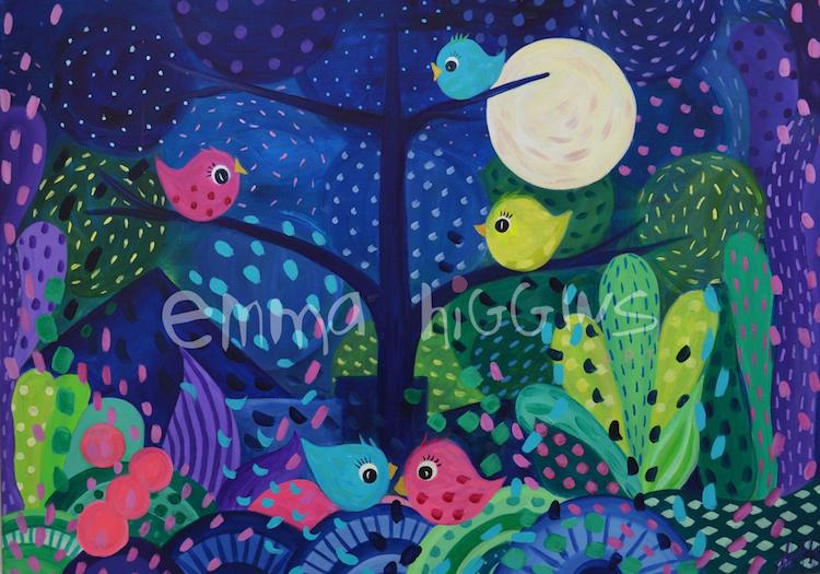 'Moonsong' 50x 70 cm
