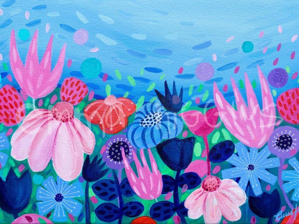 'In Blue' 30 x 40 cm