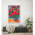 Abstract Floral Painting Tulips